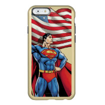 Superman Holding US Flag Incipio Feather Shine iPhone 6 Case