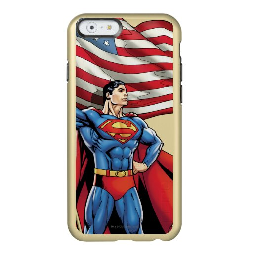Superman Holding US Flag Incipio Feather Shine iPhone 6 Case