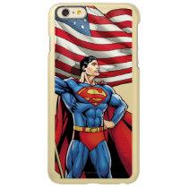 Superman Holding US Flag Incipio Feather Shine iPhone 6 Plus Case