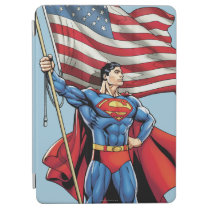 Superman Holding US Flag iPad Air Cover