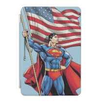Superman Holding US Flag iPad Mini Cover