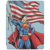 Superman Holding US Flag iPad Smart Cover