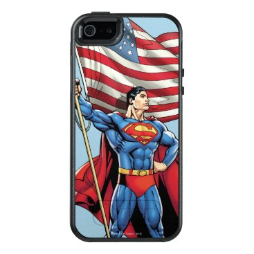 Superman Holding US Flag OtterBox iPhone 5/5s/SE Case