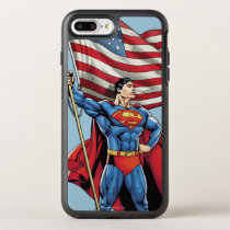 Superman Holding US Flag OtterBox Symmetry iPhone 8 Plus/7 Plus Case