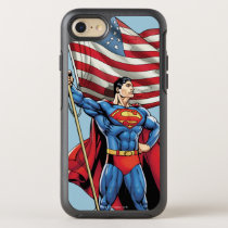 Superman Holding US Flag OtterBox Symmetry iPhone SE/8/7 Case