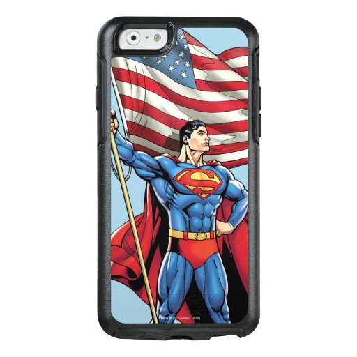 Superman Holding US Flag OtterBox iPhone 6/6s Case