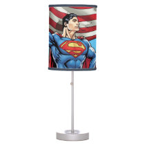 Superman Holding US Flag Table Lamp