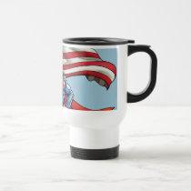 Superman Holding US Flag Travel Mug