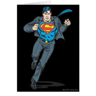 Superman in Business Garb Card