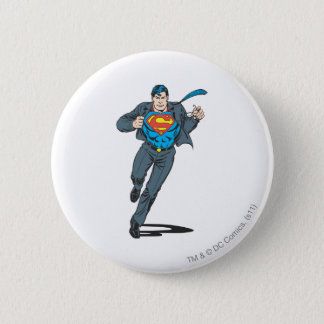 Superman in Business Garb Pinback Button