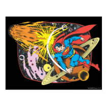 Superman in Space Postcard