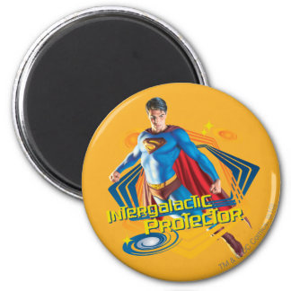 Superman Intergalactic Protector 2 Inch Round Magnet
