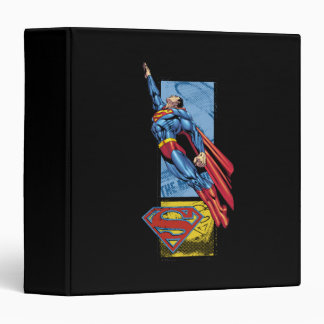 Superman jumps up with logo 3 ring binder