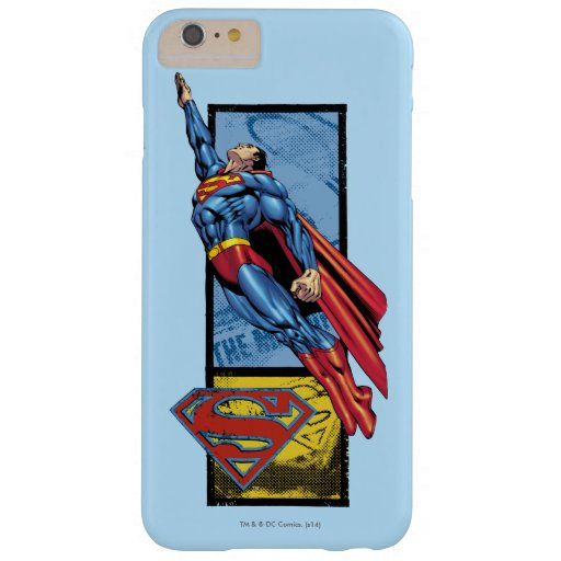 Superman jumps up with logo barely there iPhone 6 plus case