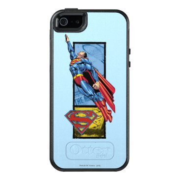 Superman jumps up with logo OtterBox iPhone 5/5s/SE case