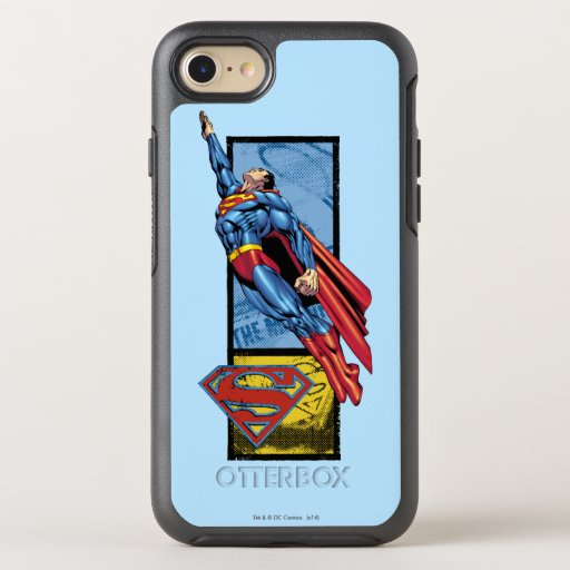 Superman jumps up with logo OtterBox symmetry iPhone SE/8/7 case