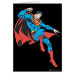 Superman Lands Lightly Greeting Card