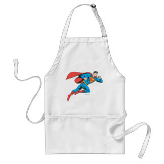 Superman Leaps Right Adult Apron
