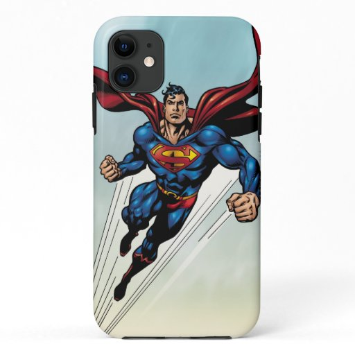 Superman leaps upward iPhone 11 case