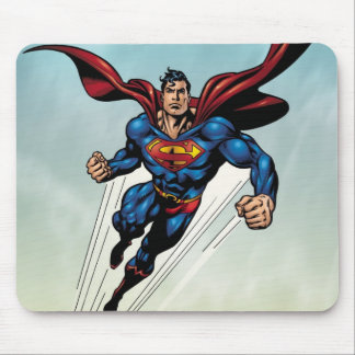 Superman leaps upward mouse pad