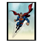 Superman leaps upward post cards