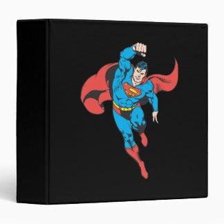Superman Left Fist Raised 3 Ring Binder