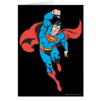 Superman Left Fist Raised Greeting Cards