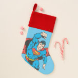 Superman Left Fist Raised Christmas Stocking