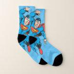 Superman Left Fist Raised Socks