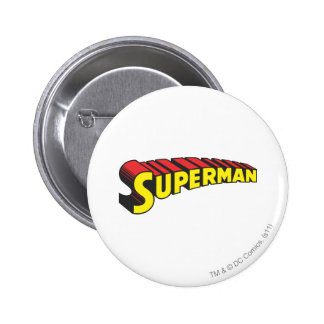 Superman Letters Yellow/Red 2 Inch Round Button