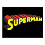 Superman Letters Yellow/Red Postcard