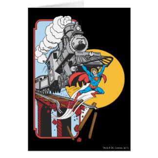 Superman Lifts Train Card