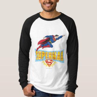 Superman Logo and Flight Tee Shirt