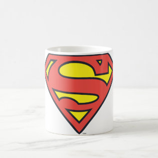 Superman Logo Classic White Coffee Mug