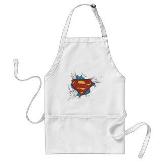 Superman logo in clouds adult apron