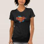 Superman logo in clouds tshirts