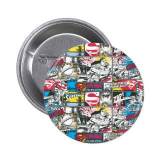 Superman Logo Pattern 2 2 Inch Round Button