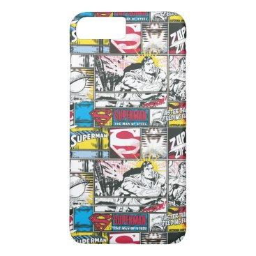 Superman Logo Pattern 2 iPhone 8 Plus/7 Plus Case