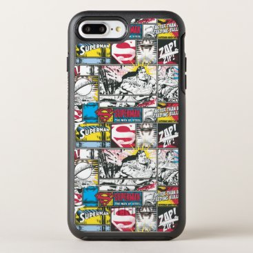 Superman Logo Pattern 2 OtterBox Symmetry iPhone 8 Plus/7 Plus Case