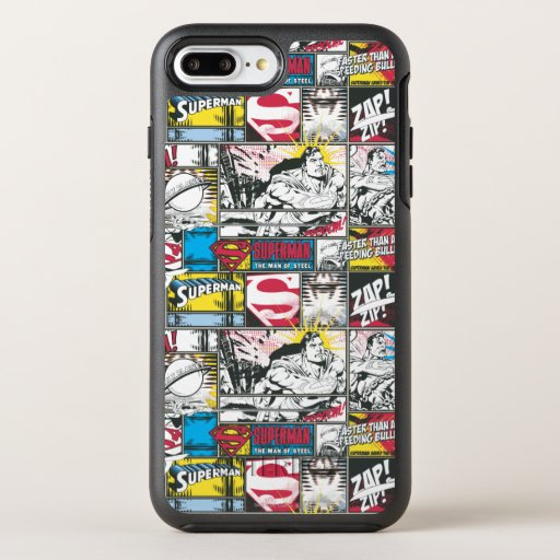 Superman Logo Pattern 2 OtterBox Symmetry iPhone 8 Plus/7 Plus Case