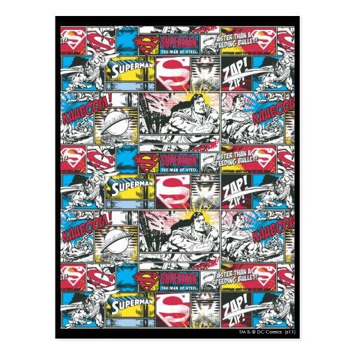 Superman Logo Pattern 2 Post Card