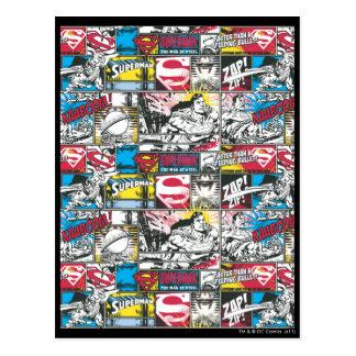 Superman Logo Pattern 2 Postcard