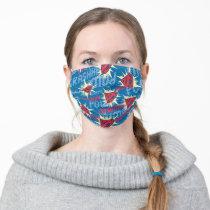 Superman Logo Pattern Adult Cloth Face Mask