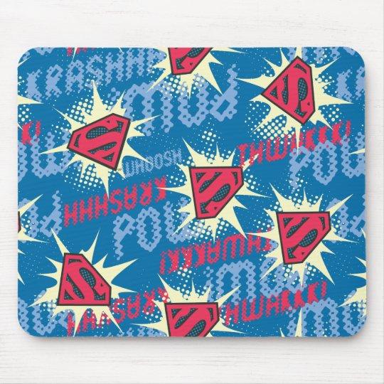 Superman Logo Pattern Mouse Pad