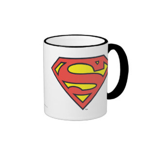 Superman Logo Ringer Coffee Mug