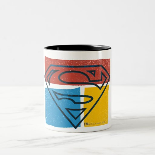 Superman Logo with Colors Coffee Mugs