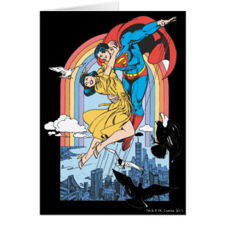 Superman Lois in Yellow Greeting Card
