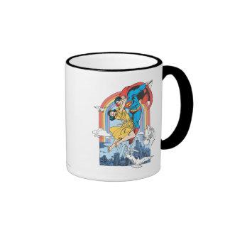 Superman & Lois in Yellow Coffee Mugs