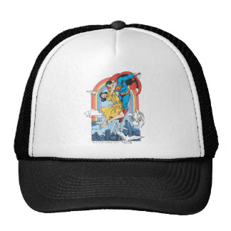 Superman & Lois in Yellow Mesh Hats