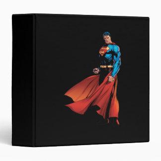 Superman Looks Front Binder